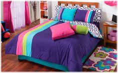 aqua and green comforter twin   New Girls Purple Aqua Pink Blue Green Modern Comforter Bedding Sheet ...