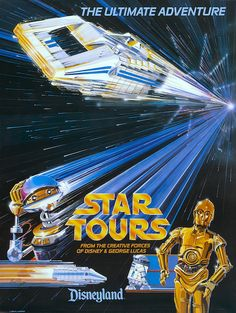 "8.5/"" x 11/""  Poster Disneyland StarWars Weekend Luke Skywalker Star Tours"