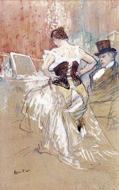 Toulouse-Lautrec. Femme au corset. 1885.
