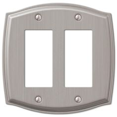 Sonoma Brushed Nickel Steel - 2 Rocker Wallplate