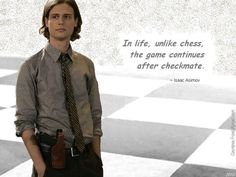 """Reid quotes Asimov"" - a Criminal Minds wallpaper created by TheCountess with Dr. Spencer Reid (Matthew Gray Gubler) and a quote he used by Isaac Asimov *** THANK YOU to everyone who takes a moment to RATE. New Quotes, Quotes For Him, Great Quotes, Quotes To Live By, Funny Quotes, Life Quotes, Movie Quotes, Spencer Reid Quotes, Spencer Reid Criminal Minds"
