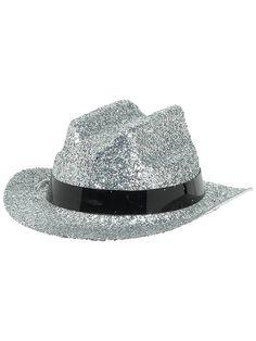 Halloween Glitter Silver Mini Hat
