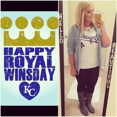 To all my Royals fans.... Let's go, Royals!!!!  #curlsandcurvesxo #foreverroyal