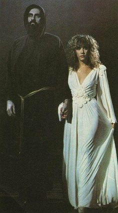 "Stevie and Mick (aka Beauty and the Beast.) Filming ""If Anyone Falls"" music video."