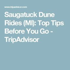 Saugatuck Dune Rides (MI): Top Tips Before You Go - TripAdvisor