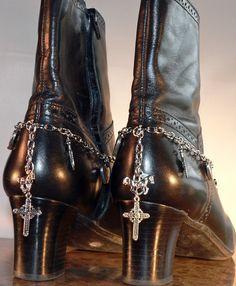 Boot Jewelry Silver Chain Horse Cross by SunriseBeadedJewelry, $15.00