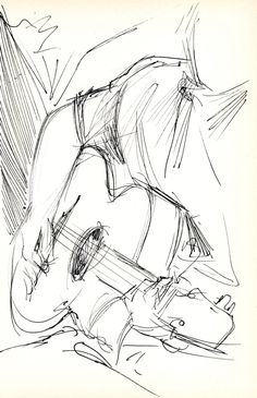 Guitarist - Original Pen & Ink Sketch - Archivally Matted and Mounted for Standard Frame Guitarist - original pen & ink sketch on lightweig. Guitarist - Original Pen & Ink Sketch - Archivally Matted and Mounted for Standard Pencil Art Drawings, Cool Art Drawings, Realistic Drawings, Art Drawings Sketches, Portrait Sketches, Cool Sketches, Creative Sketches, Disney Drawings, Architecture Sketches