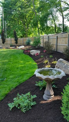 36 Backyard Privacy Fence Landscaping Ideas On A Budget ⋆ sayangmom.club 36 Backyard Privacy Fence Landscaping Ideas On A Budget ⋆ sayangmom. Garden Yard Ideas, Lawn And Garden, Garden Paths, Garden Beds, Garden Cart, Garden Ideas Along Fence Line, Front House Garden Ideas, Garden Hose, Garden Tools