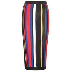 Balmain Knitted Skirt found on Polyvore featuring skirts, balmain, bottoms, multicoloured, colorful skirts, multicolor skirt, black skirt and multi colored skirt