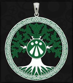 3 Awen pendant Occult jewelry Esoteric symbol charm Vintage style