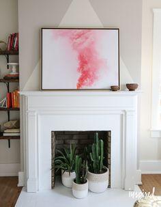 Fireplace Fix-Up - Modern Design Fireplace Filler, Empty Fireplace Ideas, Art Deco Fireplace, Unused Fireplace, Faux Fireplace Mantels, Small Fireplace, White Fireplace, Bedroom Fireplace, Fireplace Design