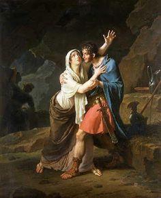 """Eponine e Sabinus"". (by Nicolas-André Monsiau)."