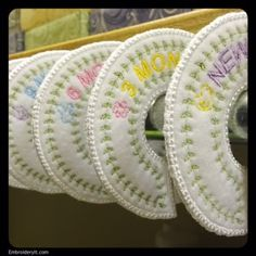Machine Embroidery Baby Clothes Closet Organizer   Embroidery It