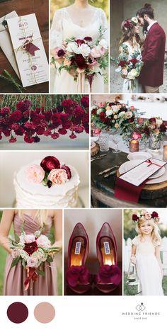 Marsala & Dusty Rose Wedding Inspiration