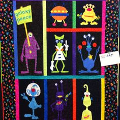 This is a quilt! So cute! I am going to start making things like this!