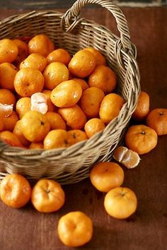 Instead of flowers leave out a pretty basket of tangerines on the side in the kitchen or on the dining room table.