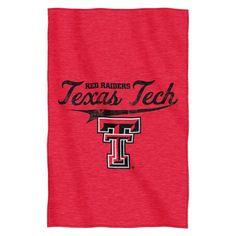 Texas Tech Red Raiders Blanket 54x84 Sweatshirt Script Design