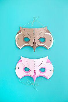 DIY Owl Masks | like-the-cheese.com for Silhouette America Blog