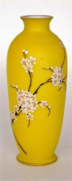 Lovely Vase Glass Enamelled 1900 New Art Decor Diversified In Packaging Decorative Arts