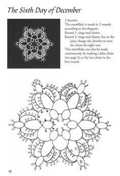motif with tatting pattern chart