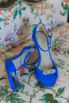"""Ivy Ho:  I did wear Angela Nuran shoes and I LOVED them, did not feel  pain all day and so comfortable and everyone loved the bold blue colors on  them!"""" Angela Nuran Astoria wedding shoes dyed cobalt blue @angelanurancontest1"""