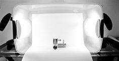 Product Photography - A translucent plastic tub can also be turned into a product photography light box.