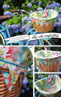 Blue Sky Confections: Beach Cruiser Basket Liners