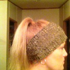 Loom knit ear warmer #2