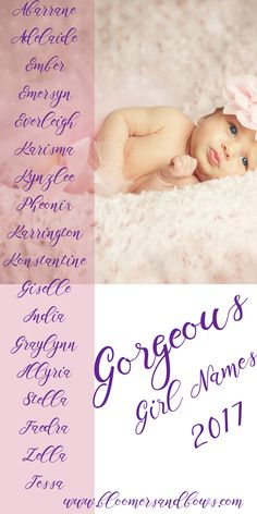 Gorgeous Names for little Girls. 100s of names. Bloomers and Bows | www.bloomersandbows.com