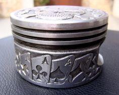 Paul Holbrecht: 'Lucky 13' relief, hand engraved 200 cc piston