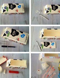 משלוח מנות, חלב, 5 (צילום: סימה יוסף) Summer Crafts, Diy And Crafts, Pretty Packaging, Freundlich, Handicraft, Diy For Kids, Recycling, Wraps, Gift Wrapping
