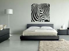 Zebra Sticker - Urban Wall Art Graffiti Mural Decor Animals bedroom print Animal | eBay