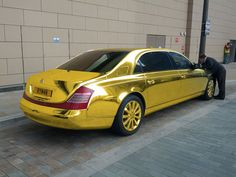Gold Car | Gold car 021 EXCLUSIVE: Theo Paphitis' £35m solid gold Maybach car ...