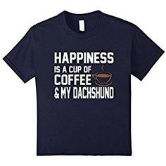 Kids Happiness Coffee #dachshund Cute Owner T-Shirt 6 Navy