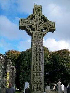 An ancient Celtic cross. Perhaps one of the most identifiable symbols of Ireland.