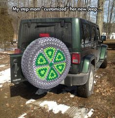 Cozy tire…here ya go kenzi, start crocheting tire cozies to go with the cup cozies. ;)