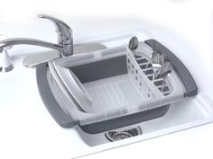 Progressive International Collapsible Over the Sink Dish Drainer: Amazon.com: Kitchen & Dining $19.96