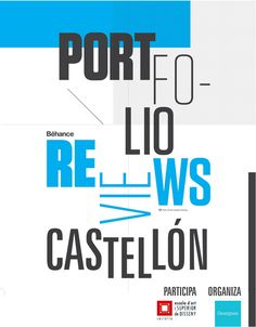 A custom version of the the standard PRW poster for #behancereviews Castetllon