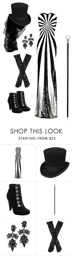 """Night Circus"" by rebellious-ingenue ❤ liked on Polyvore featuring Matthew Williamson, Head Over Heels, Pasotti Ombrelli, Fallon, Dents and thenightcircus"