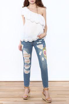 Shoptiques Product: White Off-Shoulder Top