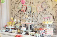 Spring Dessert Table.