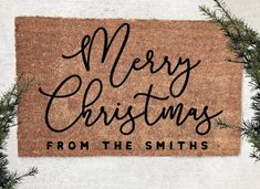 Merry Christmas Y'all -Custom Farmhouse Doormat-Personalized Welcome Mat Farmhouse Decor - Christmas Christmas Doormat, Christmas Porch, Christmas Love, Christmas Signs, Christmas Humor, Merry Christmas, Christmas Decorations, Christmas Ideas, Christmas Inspiration