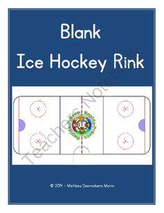Blank Ice Rink Diagram Hockey