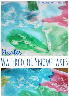 10 Wonderful Winter Art Projects | Our Little House in the Country including using hot glue and glitter