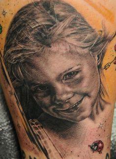 Tattoo by Andy Engel German Tattoo, Piercing Studio, Tattoo Artists, Body Art, Ink, Portrait, Tattoos, Beautiful, Tatuajes