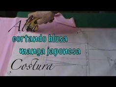 Alta Costura Clase 27, Cortar en Tela Blusa Manga Japonesa