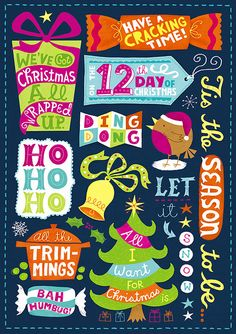Christmas Card (front) by Linzie Hunter, via Flickr