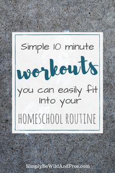 Super simple and fun workout ideas you can incorporate into your daily homeschool routine. Get fit and healthy with your kid, while having fun! Workout Ideas, Fun Workouts, At Home Workouts, Homeschooling Resources, Homeschool Curriculum, Mom Family, Waldorf Education, Exercise For Kids, Yesterday And Today