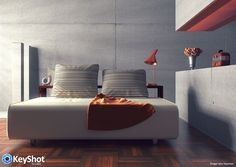 Interior lighting feature in KeyShot 6 render by John Seymour.