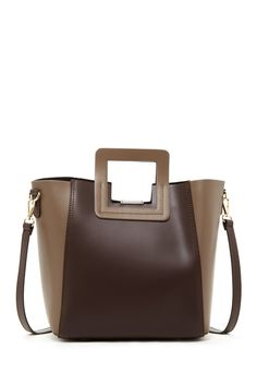 CARLA FERRERI, Colorblock Leather Satchel, was $304.00, now $114.97 From Nordstrom Rack